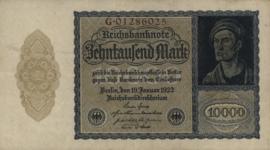 Duitsland Ros.069b 10.000 Mark 1922 DEU78b