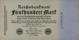 Duitsland P74 500 Mark 1922-07-07 Ros.071 DEU-82a