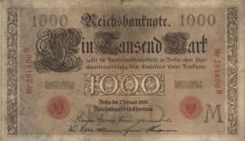 Duitsland P36 1.000 Mark 1908