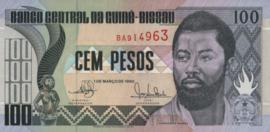 Guinee-Bissau P11 100 Pesos 1990