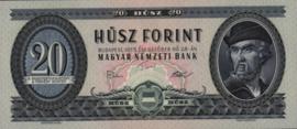 Hongarije P169 20 Forint 1969