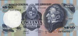 Uruguay P61.d 50 Nuevos Pesos 1985 (No date)