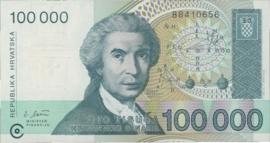 Kroatië P27.a 100.000 Dinara 1993