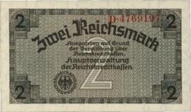 Reichskreditkassenscheine Ros552 2 Mark 1939