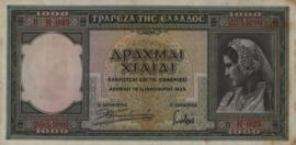 Griekenland P110 1.000 ΔΡΑΧΜΑΙ 1939 1,000 Drachmai