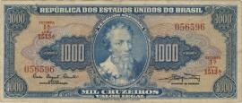 Brazilië P173.a: 1.000 Cruzeiros ND (1961) F+
