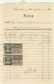 Nederland, Enschede, Nota, Joh. Bennebroek, 1937