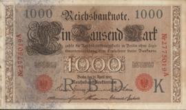 Duitsland P44.b 7 cijfers 1.000 Mark 1910