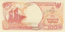 Republiek Indonesië H324: 100 Rupiah 1992 UNC