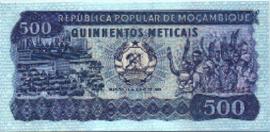 Moçambique P131 500 Meticais 1983-06-16