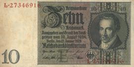 Duitsland P180.b 10 Reichsmark 1929