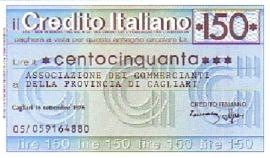 il Credito Italiano - 150 Lire