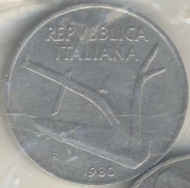 Italië KM#93 10 Lire 1980R