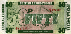 Engeland, Militaire uitgaven - 50 New Pence 1972 M46 Bradbury and Wilkinson