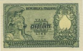 Italië P91.a 50 Lire 1951