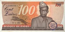 Zaïre (Congo Kinshasa) P29.b 100 Zaïres 1983-85