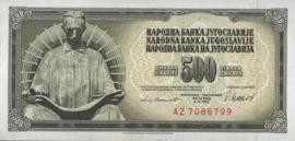 Joegoslavië P91.b 500 Dinara 1981