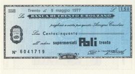 Banca di Trento e Bolzano 150 Lire