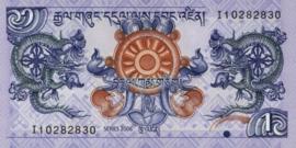Bhutan P27.a 1 Ngultrum 2006