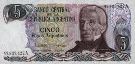 Argentinië P312.a1 5 Pesos Argentinos 1983-84 (No date)
