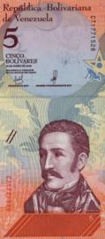 Venezuela P102.a 5 Bolivares 2018
