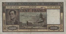 België P126.2 100 Francs 1945-1950
