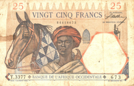 Frans West Afrika - L'Afrique Occidentale P27 25 Francs 1942