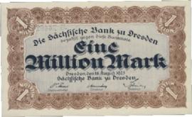 Sächsische Bank zu Dresden  1.000.000 Mark 1923 Ros.SAX19.f