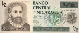 Nicaragua P171 1/2 Córdoba 1991 (No Date)