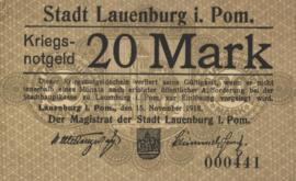 Lauenburg i. Pom. 310.03.a 20 Mark 1918