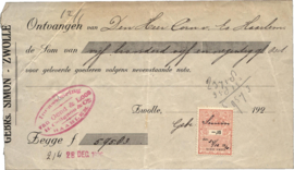 Nederland, Zwolle, Nota, GEBRs SIMON, 1920
