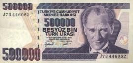 Turkije P212.b 500.000 Lira 1970 (No date)