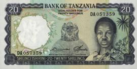 Tanzania P3.e 20 Shillings 1966