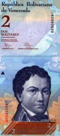 Venezuela P88.d 2 Bolivares 2007-2013