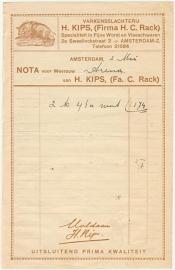 Nederland, Amsterdam, Nota, H. Kips, No Date (Jaren '30)