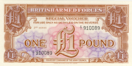 Great Britain, British Armed Forces PM29 1 Pound 1957 (No date)