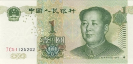 China - Volksrepubliek P895a 1 Yuan 1999 BNL