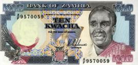Zambia P31.a 10 Kwacha 1989 (No date)