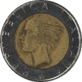 Italië KM111 500 Lire 1987R