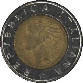 Italië KM111 500 Lire 1992R