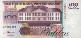 Suriname PLS21.4.b 100 Gulden 1998
