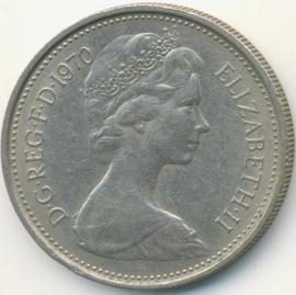 Engeland 5 New Pence 1970 KM#911