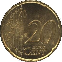 Italië KM214 20 EURO CENT 2002