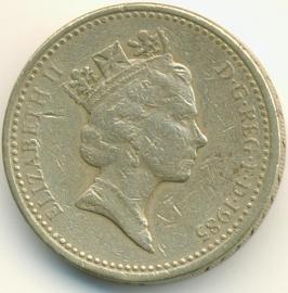 Engeland 1 Pond 1985 KM# 941