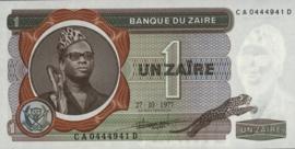 Zaïre P18.f 1 Zaïre 1972-77