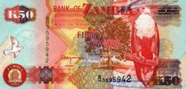 Zambia P37.b 50 Kwacha 1992 (No date)