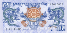 Bhutan P27.b 1 Ngultrum 2013