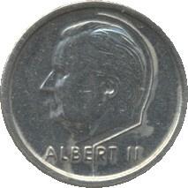 Belgique KM187 1 Franc 1994-98