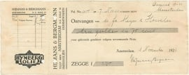 Nederland, Amsterdam, Kwitantie, Hijmans & Bergmann, 1926
