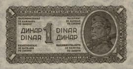 Joegoslavië P48.a 1 Dinar 1944